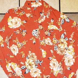 Beach Lunch Lounge Floral Button Up Shirt
